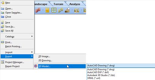 Exporter aux formats FBX et OBJ